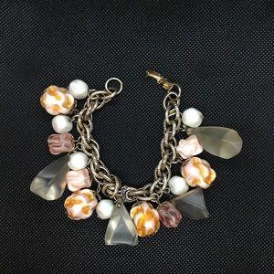 Jewelry - 80's Vintage Chunky Lucite Dangle Bracelet
